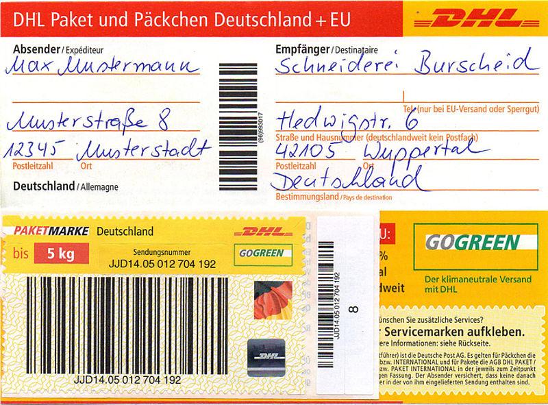 Try These Dhl Paket Paketschein